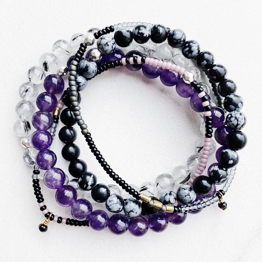 Hanuman Heart Custom Jewelry Gemstone Bead Stacking Bracelets