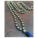 Hanuman Heart original pyrite mala necklace