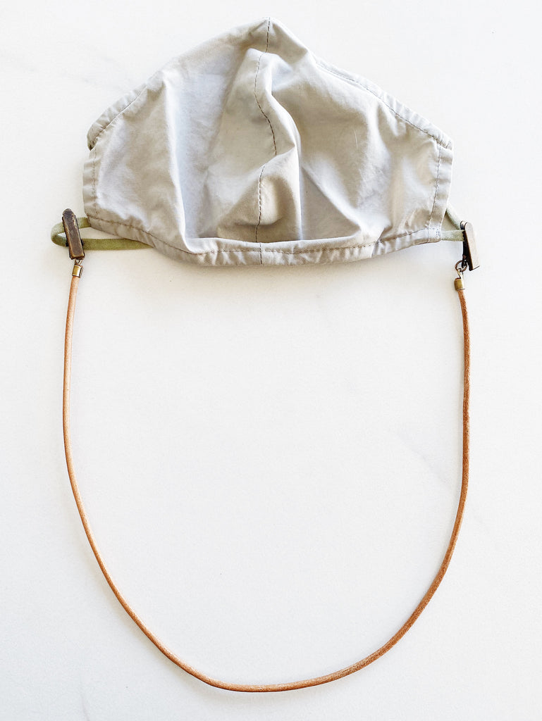 Leather Mask Cord - Tan