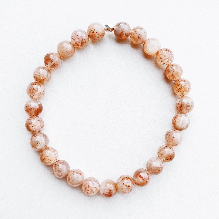 Hanuman Heart Custom Jewelry Sunstone Stacking Bracelet