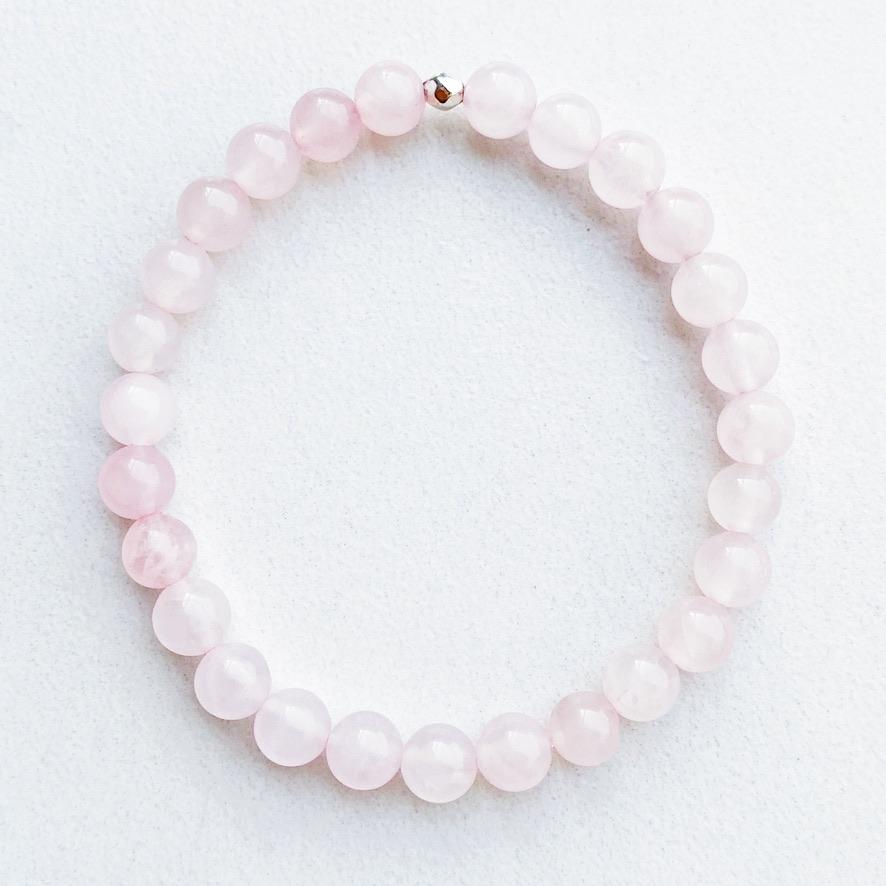 Hanuman Heart custom Jewelry Rose Quartz Stacking Bracelet