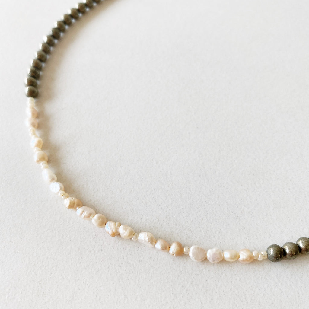 Hanuman Heart Custom Jewelry Freshwater Pearl Choker Necklace