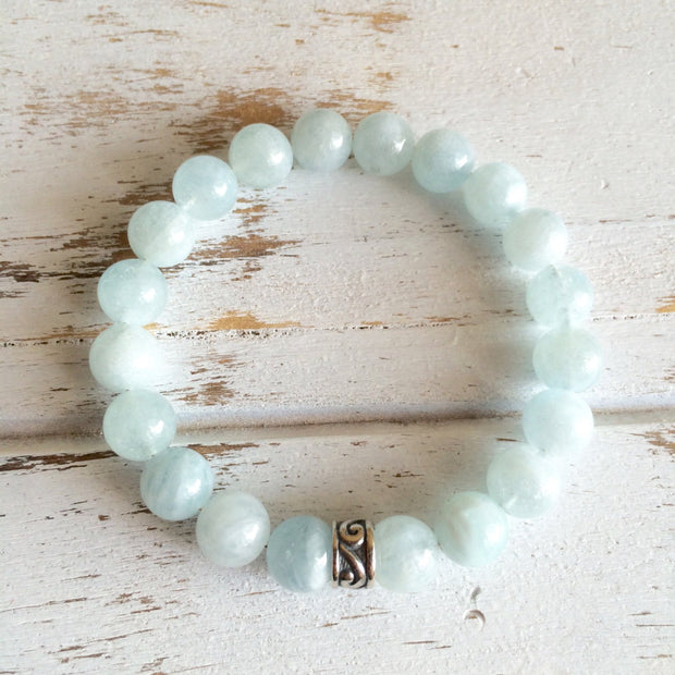 6mm Aquamarine Bracelet ~ Serenity - Jewelry & Watches - My Drink Water