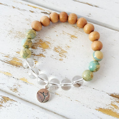 Peace Bracelet, Aqua Terra Jasper, Crystal - Jewelry & Watches - My Drink Water