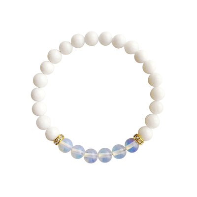 White Agate and Opal Bracelet - Jewelry & Watches - My Drink Water