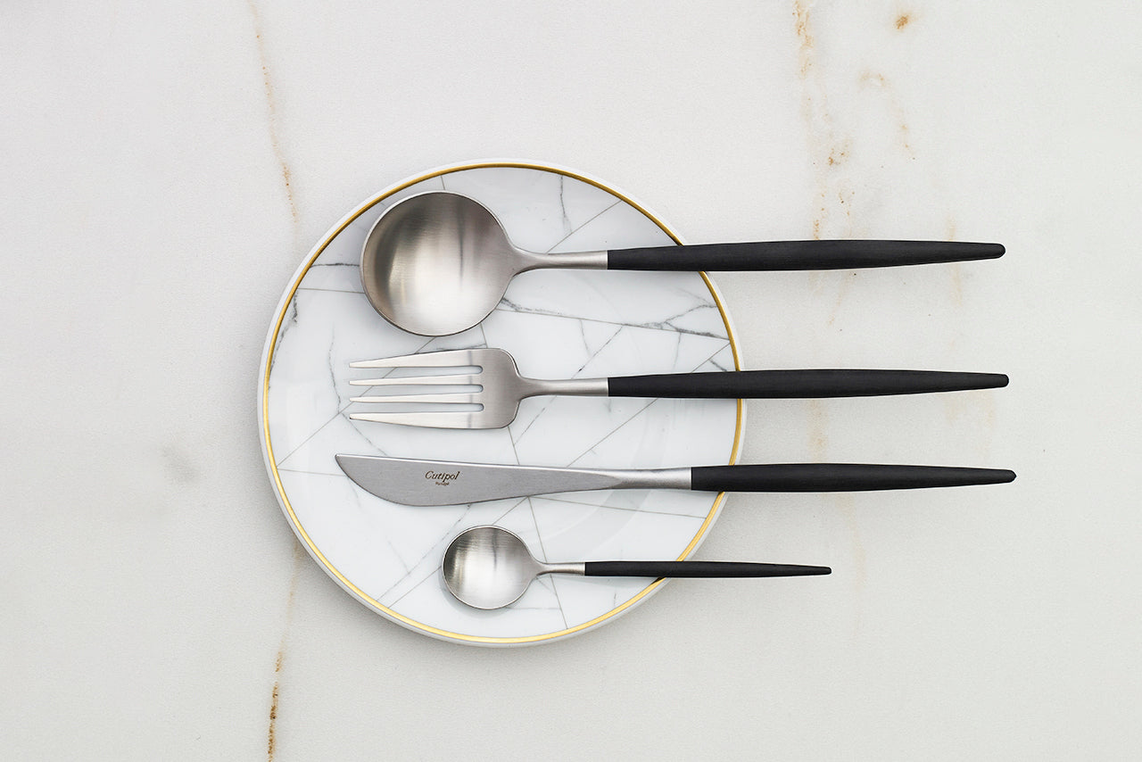 modern cutlery for romantic table