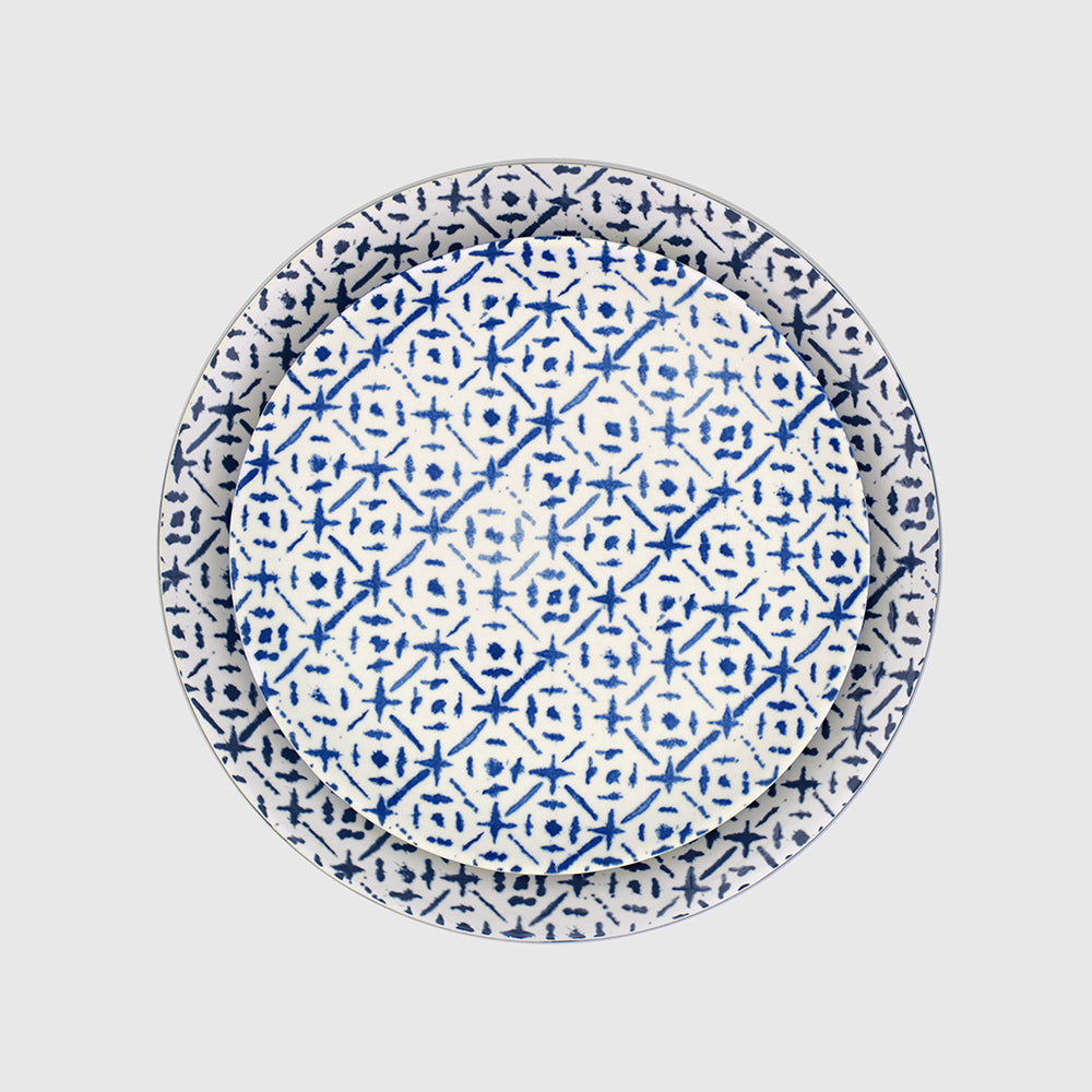 Plato llano Indigo & Tile Collection