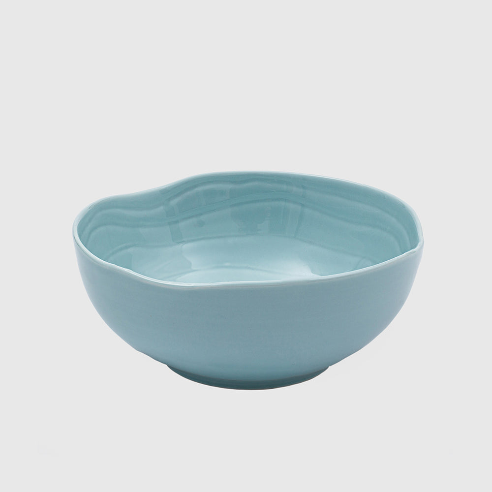 Bowl Teak Turquoise Collection