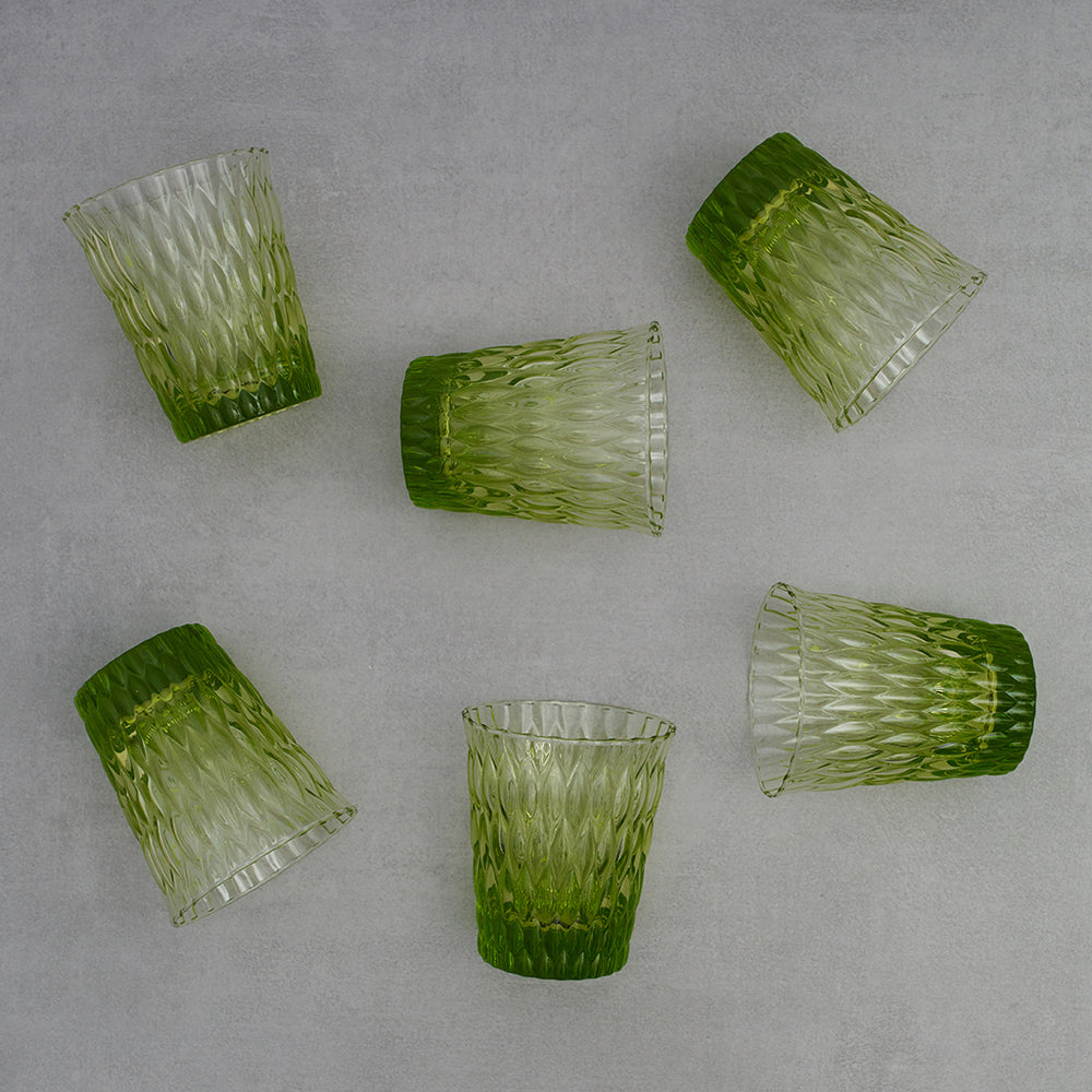 Set 6 vasos Impressions Acid Green