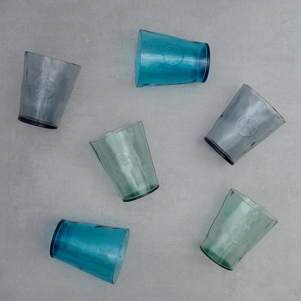 Set 6 vasos Aqua Colours