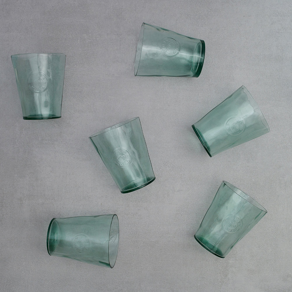 Vajillas Costa Nova Set 6 vasos Aqua Green
