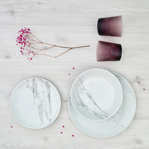 Plato hondo/pasta Marble Collection