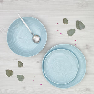 Plato hondo/pasta Teak Turquoise Collection