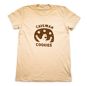 Caveman Cookie T-Shirt - Creme