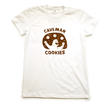 Caveman Cookie T-Shirt - White
