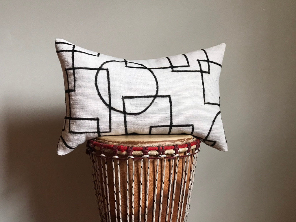 Bogolan Mudcloth Accent Pillow Modern