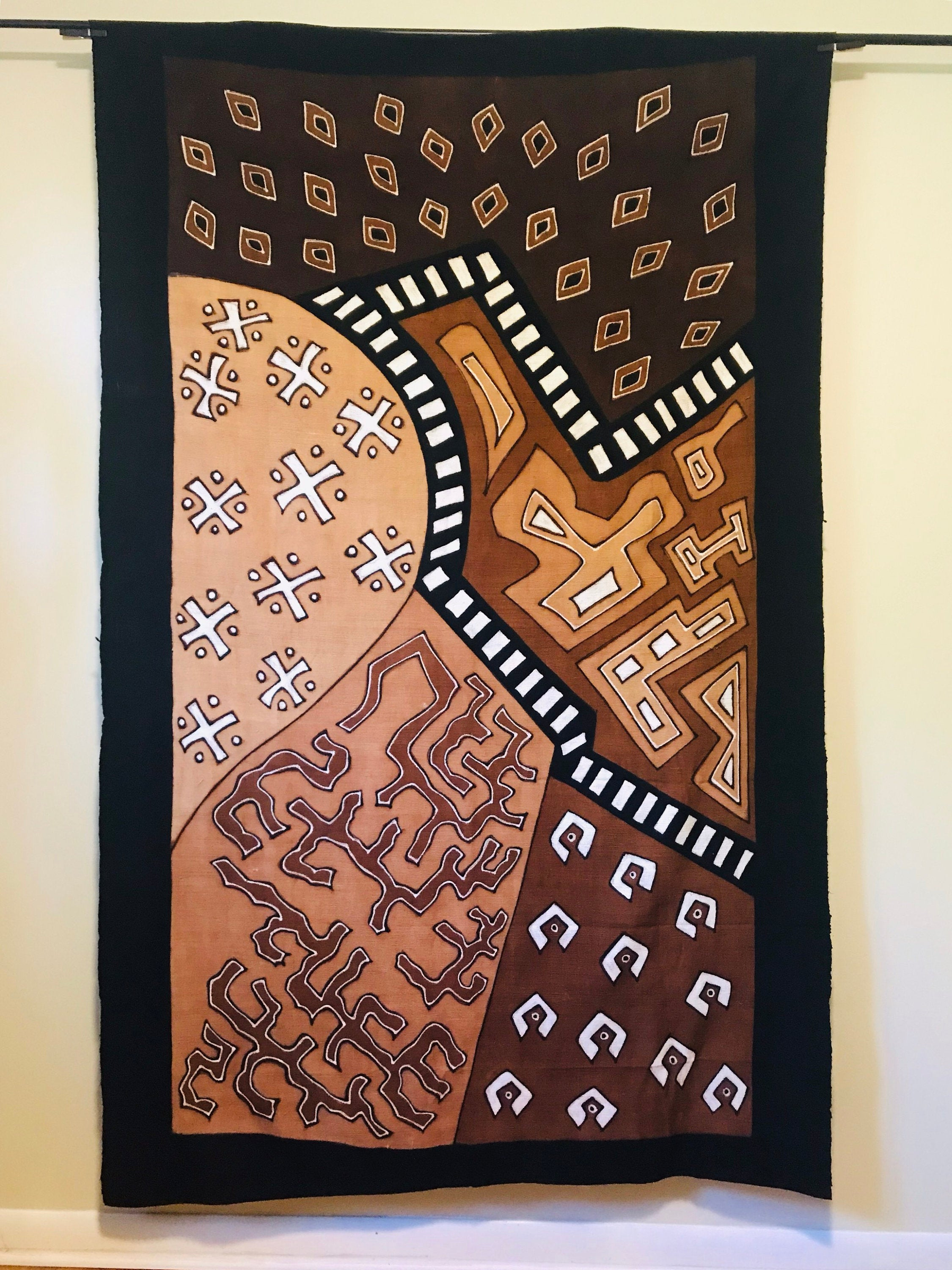 Mudcloth Textile, Ethnic Blanket, Mudcloth Fabric, Mudcloth Tapestry