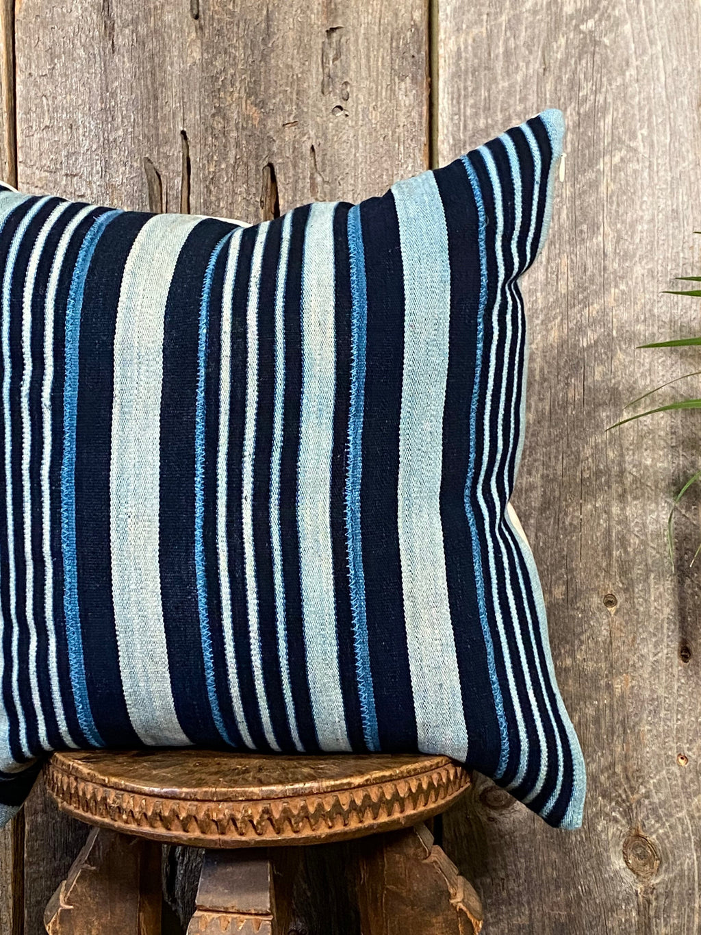 Vintage Indigo Pillow, Indigo Pillow Cover, Indigo Home Decor