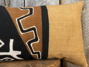 Mudcloth Lumbar Pillow, Mudcloth Pillow Cover, Mudcloth Home Decor