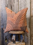 Mudcloth Pillow, Mudcloth Pillow Cover, Terra Cotta Mudcloth Pillow