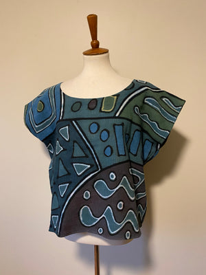Indigo Mudcloth Box top