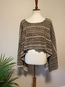 Vintage Mudcloth Poncho Direction