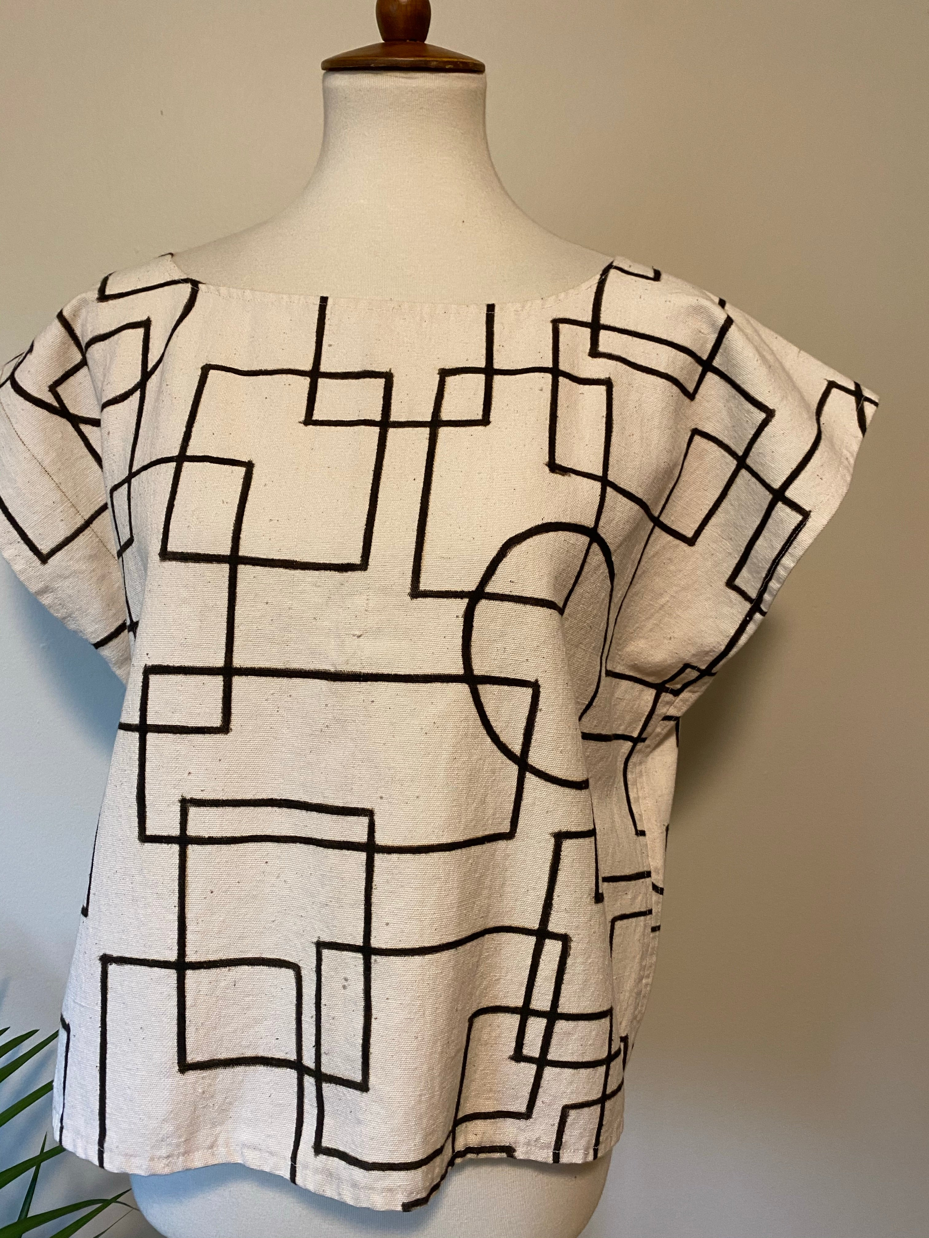 White Mudcloth Top Modern 2