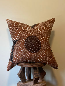 Bogolan Mudcloth Pillows Terra Cotta