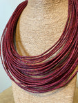 Red Twisted Leather Necklace