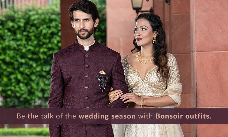 Be the talk of the wedding season with Bonsoir outfits