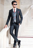 Green Peak lapel Suit