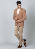 Brown Knitted Blazer