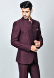 Wine Bandhgala suit