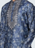 Printed Kurta Set Blue