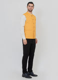 Yellow Blended Nehru Jacket
