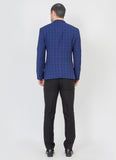 Blue checks blazer