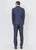 Navy designer peak lapel  suit