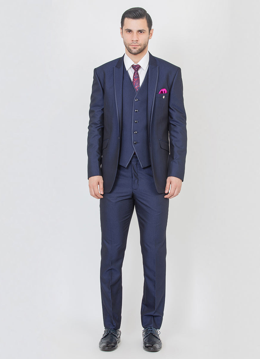 Navy Peak Lapel Suit