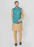 Jacquard Waist Coat With Kurta Set