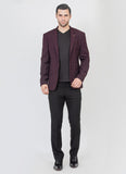 Wine checks blazer
