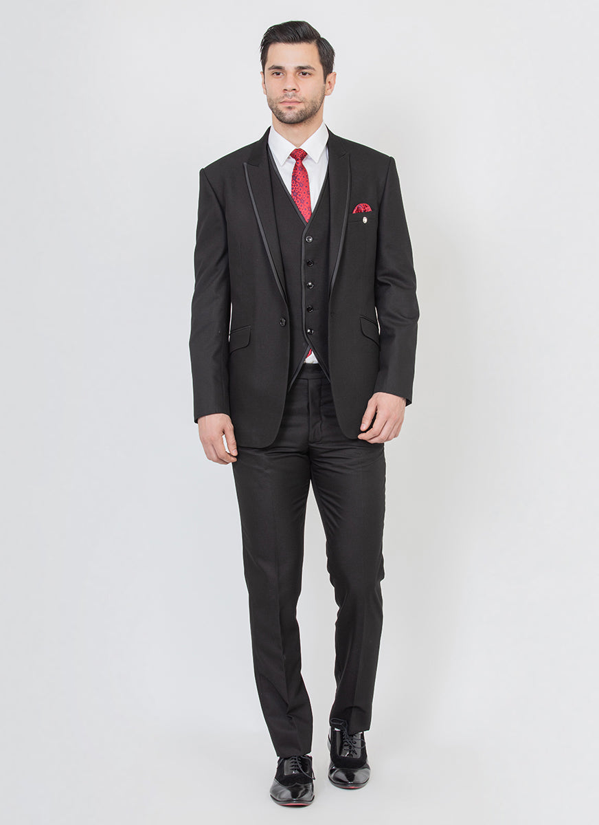 Black Peak Lapel Suit