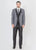 Grey designer peak lapel suit