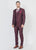 Wine Shawl collar lapel suit