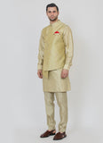 Designer Asymmetric Jacket kurta set