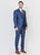 Blue  Shawl Collar  Suit