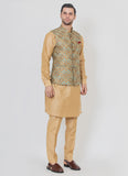 Perfect Brocade jacket with gold kurta set