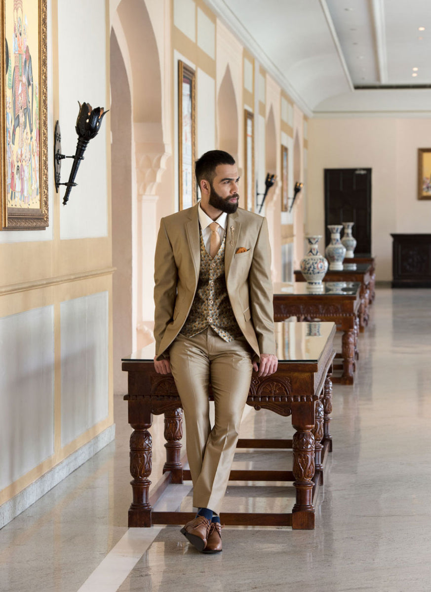 Golden Brown 5-piece Suit
