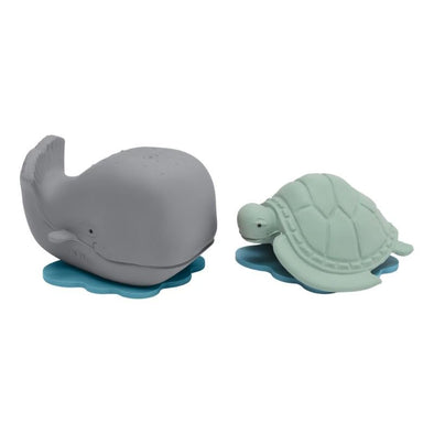 Hevea Ingolf the Whale & Dagmar the Turtle Set