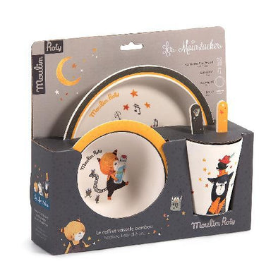 Moulin Roty 'Moustaches' Dish Set