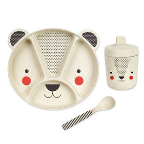 Petit Collage Bear 3-piece Bamboo Dish Set
